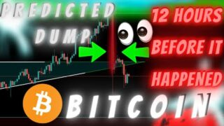 BITCOIN DUMP PREDICTED 12 HOURS BEFORE IT HAPPENED – HERE'S WHAT'S COMING!! (is this possible?)
